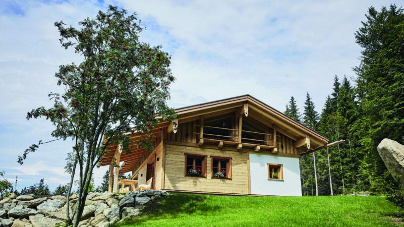 Dreisesselchalets Bayerischer Wald Luxus Berghütten Hochstein Galerie Aussenansicht Blick von Aussen