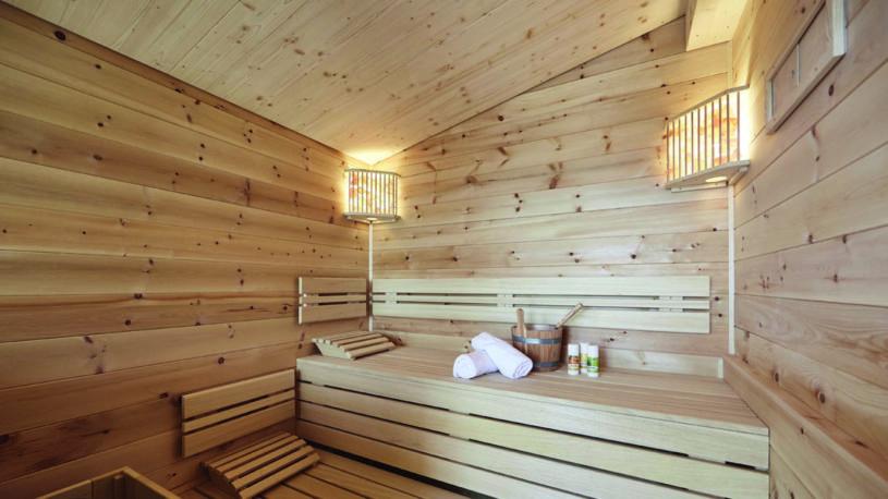 Dreisesselchalets Bayerischer Wald Luxus Berghütten Hochstein Galerie Interior Inneneinrichtung Sauna